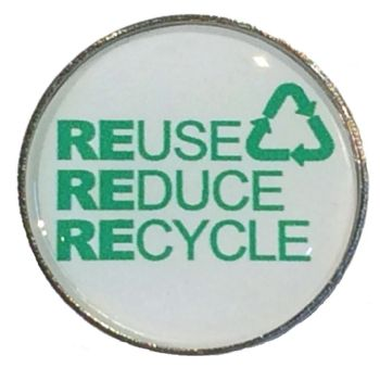 REUSE REDUCE RECYCLE badge